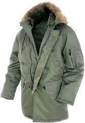 Mil-Tec US FLIEGERPARKA N3B BASIC SCHWARZ Outdoorjacke Jacke