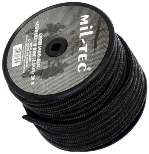 Mil-Tec Universal Rope Survival 9mm Black [by the meter]