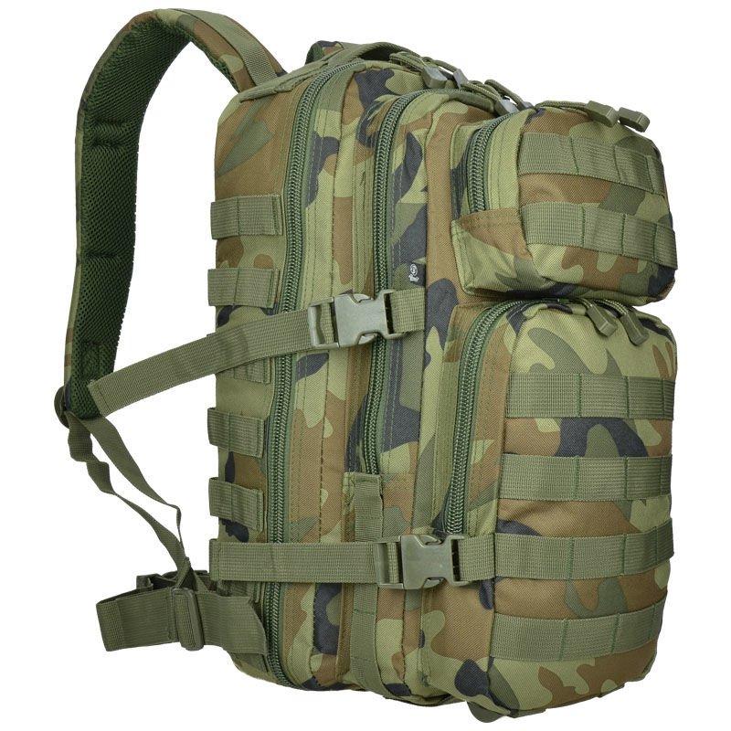 BRANDIT TACTICAL US URBAN COOPER RUCKSACK LARGE WEBBING ARMY BACKPACK DARK CAMO