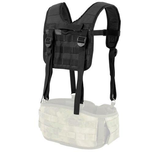 Condor Tactical Suspenders H-Harness Black | Milworld.com