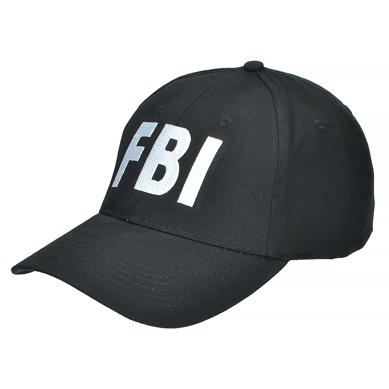 Mil-Tec FBI Baseball Cap Black ... 166aa79aaa6a