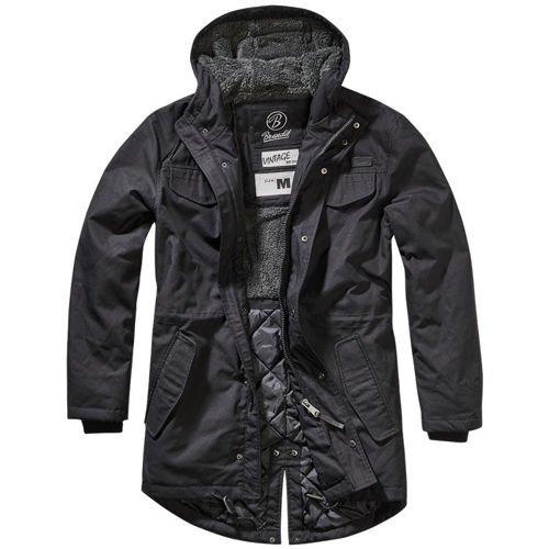Brandit Parka Jacket Marsh Lake Black