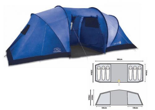 Highlander 6-person Tent Cypress Blue