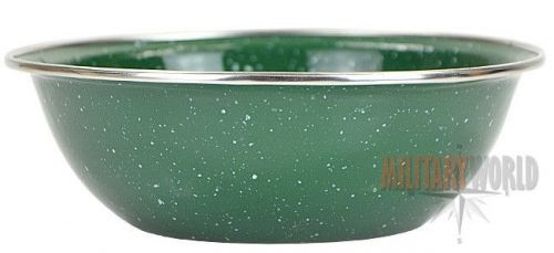 Highlander Deluxe Enamelled Bowl Green