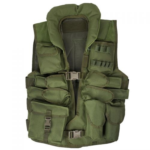 MFH US Tactical Vest with Collar Oliv