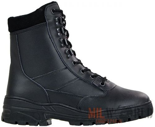 Mil-Com Tactical Boots All Leather Patrol Boots Black