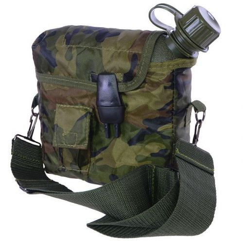 Mil-Tec Canteen 2QT With Cover And Strap Woodland