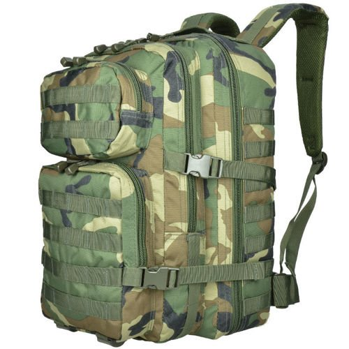 Mil-Tec MOLLE Tactical Backpack US Assault 36L Woodland
