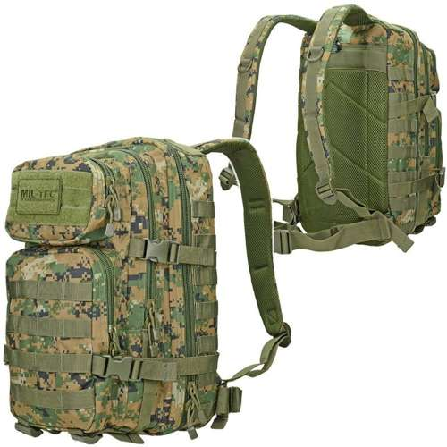 Mil-Tec MOLLE Tactical Backpack US Assault Small Digital Woodland (Marpat)