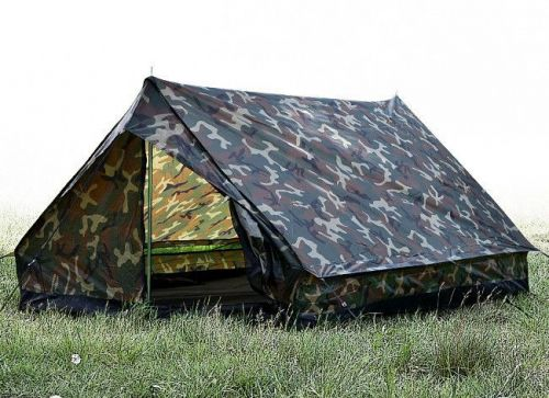 Mil-Tec Mini Pack Super Tent for 2 People Woodland