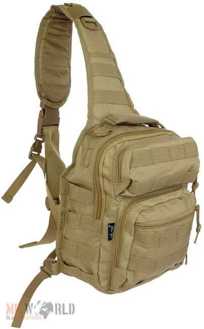 Mil-Tec One Strap Shoulder Rucksack Small Assault Coyote