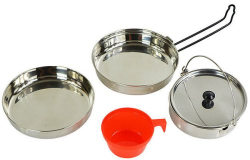 Mil-Tec Polished Aluminum Cook Set for One Person