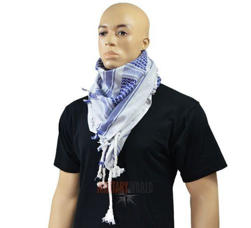 Mil-Tec Shemagh Scarf White/Blue