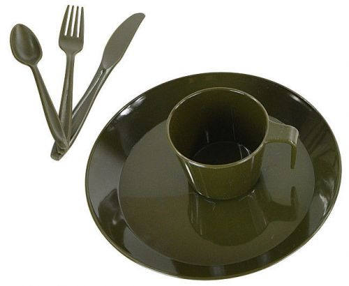 Mil-Tec Touristic Dish Set for 1 Person Olive