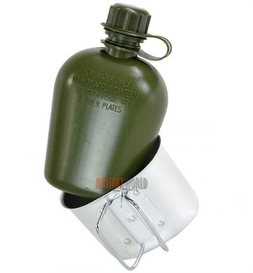 Mil-Tec US Plastic Canteen with Cup LC2 Flecktarn