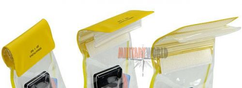 Mil-Tec Waterproof Neck Wallet Inflatable 120/170mm Yellow