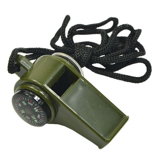 Mil-Tec Whistle Compass Thermometer Olive