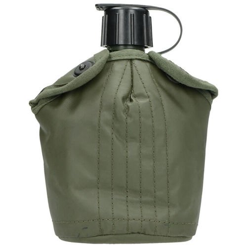 Surplus Canteen with a Cover and a Cup of the Dutch Army Olive